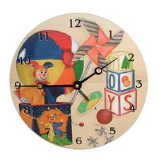 """Children and Baby 18"""" Toys Wall Clock"""