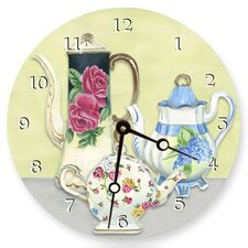 "10"" Chic Teapots Wall Clock"
