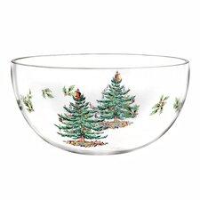 Christmas Tree Glass Serving Bowl