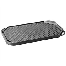"Pro Cast Traditions 19"" x 11"" Nonstick Reversible Grill Pan and Griddle"