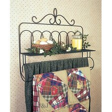Victorian Quilt Rack with Shelf