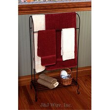 Quilt Rack with Shelf
