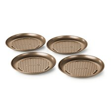 Simply Nonstick 4-Piece Personal Pizza Pan Set