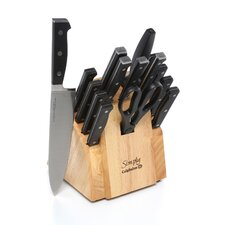 Simply Forged Cutlery 16 Piece Knife Block Set