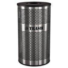 33-Gal Stainless Steel Trash Receptacle