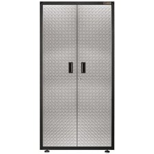 "Ready-To-Assemble 72"" H x 36"" W x 18"" D Steel Freestanding Garage Cabinet in Silver Tread"