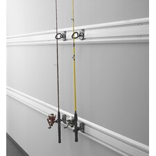 Fishing Pole Holder Garage Hook for GearTrack or GearWall (2-Pack)