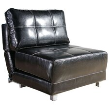 New York Leather Convertible Chair
