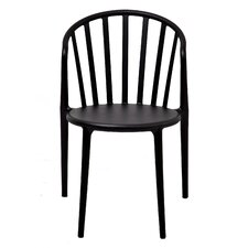 Stan Stackable Side Chair in Black (Set of 2)