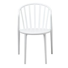 Stan Stackable Side Chair in White (Set of 2)
