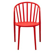 Stan Stackable Side Chair in Red (Set of 2)
