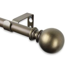 Luna Single Curtain Rod and Hardware Set