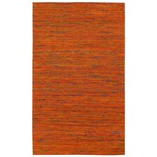 Sari Silk Handmade Orange Area Rug