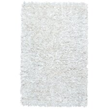 Shimmer Hand-Loomed White Area Rug