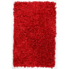 Shimmer Hand-Loomed Red Area Rug