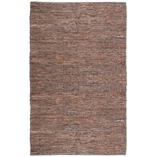 Matador Leather Chindi Brown Area Rug