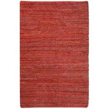 Matador Leather Chindi Red Rug