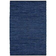 Matador Leather Chindi Blue Area Rug