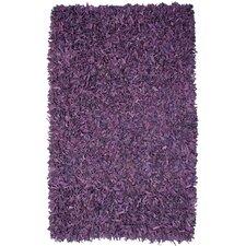 Pelle Leather Purple Area Rug