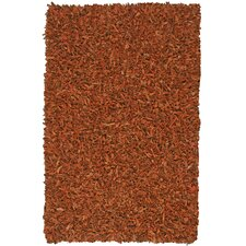 Pelle Leather Copper Area Rug