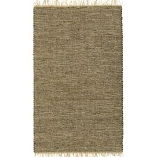 Matador Leather/Natural Hemp Brown Area Rug