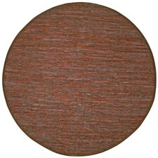 Matador Leather Chindi Rust Area Rug