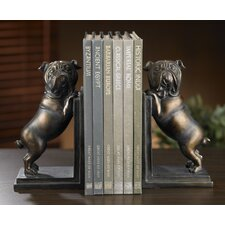 2 Piece Kindwer Whimsical Bulldog Book End Set