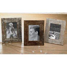 Kindwer 3 Piece Distressed Wood Picture Frame Set