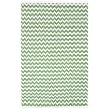 Hacienda Green/White Chevron Area Rug