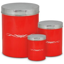 3-Piece Bread Bin and Canister Set