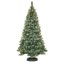 7.5' Frosted Pine Christmas Tree with 550 Clear Lights