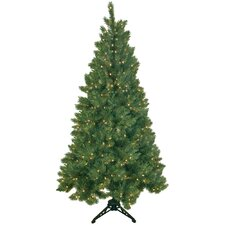 Northern Spruce 6.5' Artificial Half Christmas Tree with 500 Clear Lights