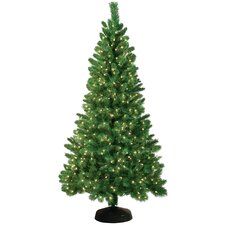 Jordan 7.5' Green Artificial Christmas Tree with 550 Clear Lights
