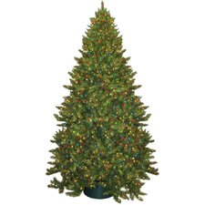 9' Montana Green Artificial Christmas Tree with 950 Multicolored Lights