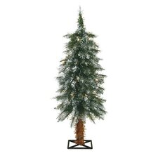 3' Frosted Alpine Christmas Tree with 35 Clear Lights