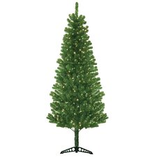 Morrison 7' Green Artificial Christmas Tree with 300 Clear Lights