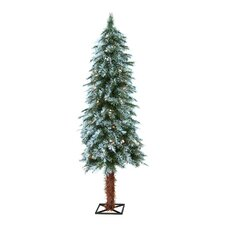 4' Frosted Alpine Christmas Tree with 70 Clear Lights