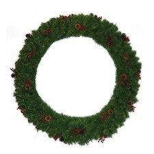 "48 "" Multi Tip Semi Decorated Wreath"