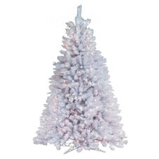 4.5' White Artic Fir Artificial Christmas Tree with 300 Clear Lights