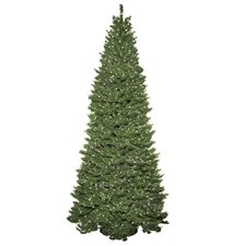 Slender 9' Green Spruce Artificial Christmas Tree with 850 Clear Lights