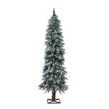 5' Frosted Alpine Christmas Tree with 105 Clear Lights