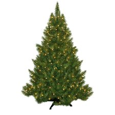 4.5' Evergreen Fir Artificial Christmas Tree with 250 Clear Lights