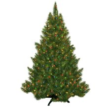 4.5' Evergreen Fir Artificial Christmas Tree with 250 Multicolored Lights