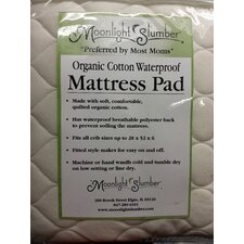 "Organic Cotton Waterproof 6"" Crib Mattress Pad"