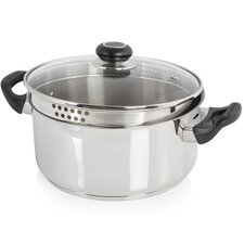 Accents Stainless steel Round Casserole