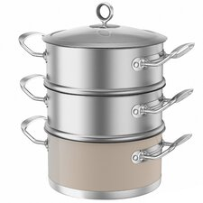 Accents 3 Tier Steamer with Lid