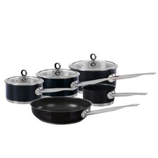 Accents 5-Piece Non-Stick Stainless Steel Cookware Set