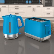 Stainless Steel Toaster and Kettle Set