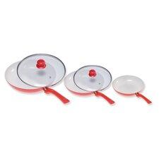 Ceramicore 3-Piece Induction Compatible Non-Stick Saute Pan Set with Lids