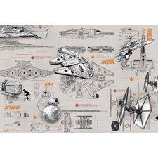 Fototapete Star Wars Blueprints